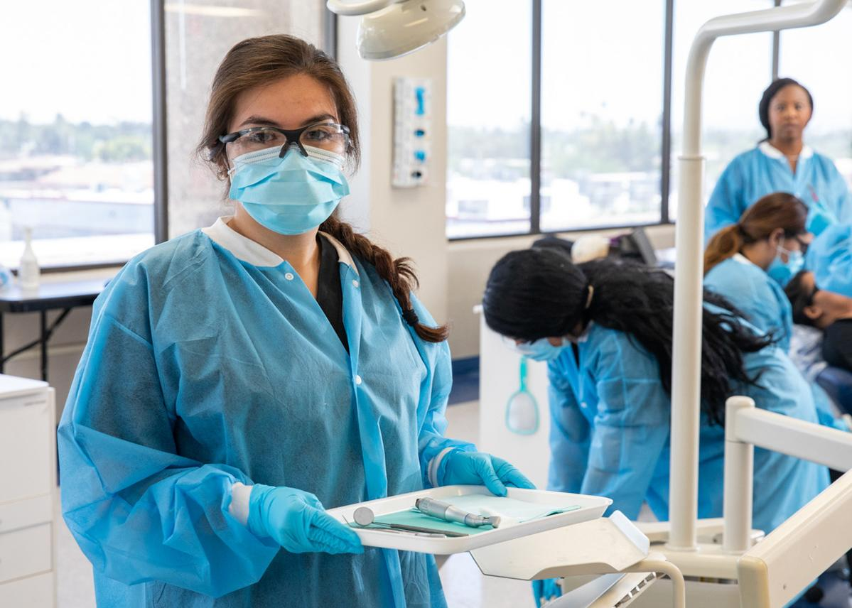 Dental assisting student at Arizona College
